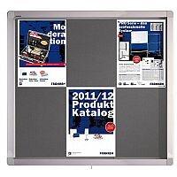 Franken Display Case ECO Outdoor Felt Grey 8 x A4 SK8PTE12