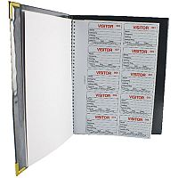 Identibadge Visitors Book Complete Black IBVBSYS