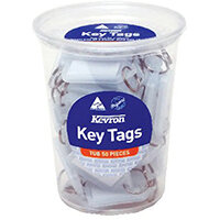 Kevron Standard Key Tags Clear Pack of 50 ID5TUB50CLR