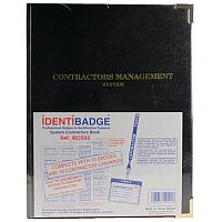 Identibadge Contractor Book with 100 Inserts/10 Pockets/10 Contractor Lanyards IBSSC5