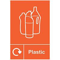 Spectrum Industrial Recycle Sign Plastic 150x200mm SAV 18156