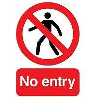 Warning Sign No Entry A5 PVC