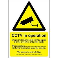 Warning Sign Data Protection Act-Compliant CCTV A5 PVC
