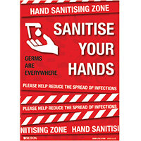 Sanitise Your Hands Polypropylene with Adhesive A3 FA064A3ARP