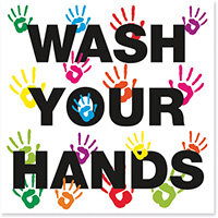 Wash Your Hands 200X200 Repositionable Vinyl FA066QSAVM