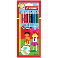 STABILO Color 12 Premium Colouring Pencils with Hexagonal Barrel Pack of 6 Assorted 1912/77-01
