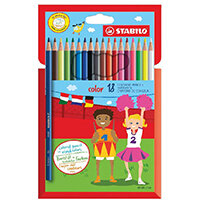 STABILO Color 18 Premium Colouring Pencils with Hexagonal Barrel Pack of 6 Assorted 1918/77-01