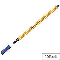 Stabilo Point 88 Fineliner Blue 10 Pack 88/41
