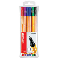 Stabilo 88 Point Fineliners Wallet Assorted Pack of 10 88/6