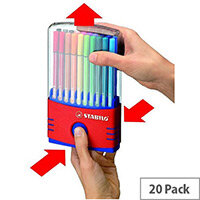 Stabilo Assorted Pen 68 ColorParade Fibre Tip Pens Pack of 20