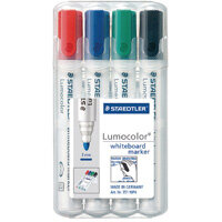 Staedtler Lumocolor 351 Drywipe Whiteboard Markers Assorted Pack of 4 351 WP4