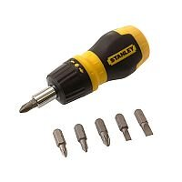 Stanley Multibit Ratcheting Stubby Screwdriver With Bits