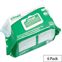 Clinell Universal Sanitising Wipes Contains 200 Wipes in Pouch Pack (Pack of 6) GCW200