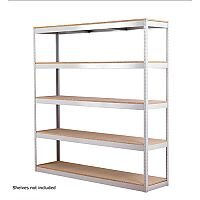 Zamba 5-Shelf Archive Unit W1800mm Grey ZZLI5GR188A18045