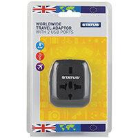 Status Worldwide Travel Adaptor Pack of 3 SUNIVERTA1Pk3