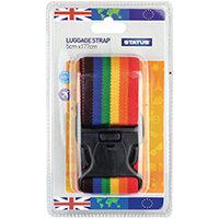 Status Adjustable Multi-Colour Luggage Strap Pack of 3 SLUGSTRAP1PK3