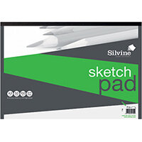 Silvine Drawing Pad Acid Free Cartridge Paper 50 Sheets A3 475