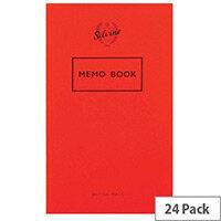 Silvine Memo Book 159x95mm 36 Leaf 042F Ruled Feint 24 Pack