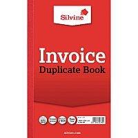 Silvine Red Duplicate 8 x 5 Inch Invoice Book Pack of 6 611