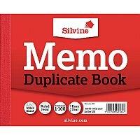"Silvine Red Duplicate 4x5"" Memo Book Pack of 12 603"