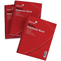 Silvine Triplicate Book 10x8 Memo Pack of 6