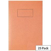 Silvine Tough Shell Exercise Book A4 7mm Squares Orange EX145