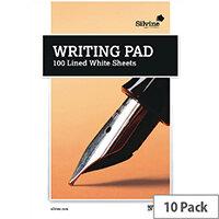 Medium Writing Pad Ruled 100 Sheet Pack of 10 1720 A5