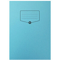 Silvine Bacoff Exercise Book Ruled 7mm Squares A4 Blue Pack of 10 EXBAC151
