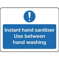 Sign Instant Hand Sanitiser Rigid Plastic 300x100