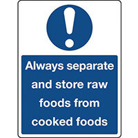 Sign Always Separate And Rigid Plastic 150x200