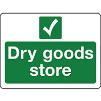 Sign Dry Goods Store Rigid Plastic 400x300