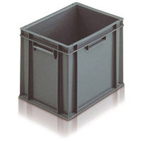 Containers Plastic -Stacking Colour Grey 10L