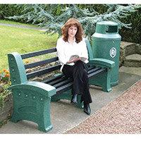 Bench Plastic 2 Seater Colour: Emerald