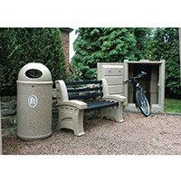 Bench Plastic 3 Seater Colour: Sandstone