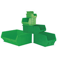 Container Green Pack Of 10 Louvre Value 9 LxWxH: 350x205x132