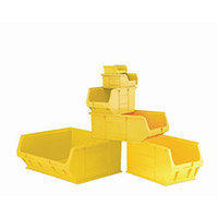 Container Yellow Pack Of 10 Louvre Value 9 LxWxH: 350x205x132