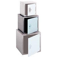 """Locker 15"""" Sq Cube-2 Tone Grey 381x381x381 Plain"""