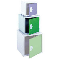"""Locker 15"""" Sq Cube-Green Door 381x381x381 Plain"""