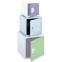 "Locker 15"" Sq Cube-Light Grey Door 381x381x381 Plain"