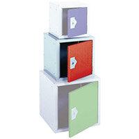 """Locker 15"""" Sq Cube-Red Door 381x381x381 Plain"""