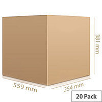 Cartons Single Wall Boxed 20 Packs 559X381X254mm