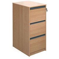 Deskinghxwxd1040X480X650 Beech Filing Cabinet 3 Drawer Beech