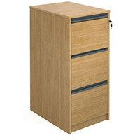 Desking Hxwxd 1040X480X650 Oak Filing Cabinet 3 Drawer Oak