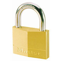 Padlock Brass Shackle 16mm-Pack Of 6