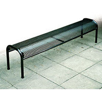 Bench Metal Bolt-Down Red L:900mm