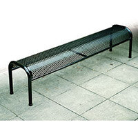 Bench Metal Free-Standing Red L:900mm