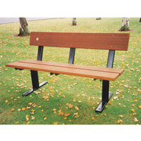 Seat  Wood Bramley Ground Fixing L:1200mm W:525mm