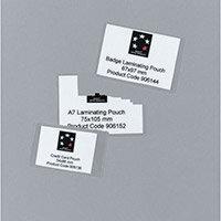 Laminating Pouches,Credit Card 250 Micron Pk100 (5 Star)