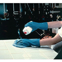 Azure Rubber Gloves Latex Gloves Size S Blue Pack of 12