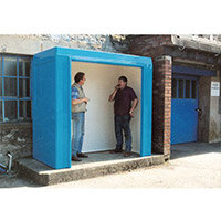 Waiting Shelter -No Windows Blue L:2400 W:1200 H:2250mm